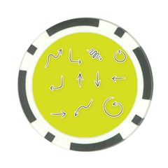 Arrow Line Sign Circle Flat Curve Poker Chip Card Guard (10 Pack)