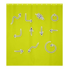 Arrow Line Sign Circle Flat Curve Shower Curtain 66  X 72  (large)