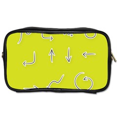 Arrow Line Sign Circle Flat Curve Toiletries Bags 2 Side