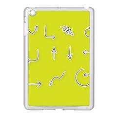 Arrow Line Sign Circle Flat Curve Apple iPad Mini Case (White)
