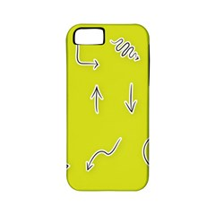 Arrow Line Sign Circle Flat Curve Apple iPhone 5 Classic Hardshell Case (PC+Silicone)
