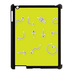 Arrow Line Sign Circle Flat Curve Apple Ipad 3/4 Case (black)