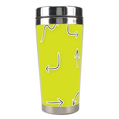 Arrow Line Sign Circle Flat Curve Stainless Steel Travel Tumblers