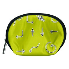 Arrow Line Sign Circle Flat Curve Accessory Pouches (Medium)