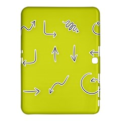 Arrow Line Sign Circle Flat Curve Samsung Galaxy Tab 4 (10 1 ) Hardshell Case