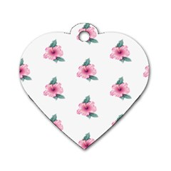 Etro Vintage Former Wallpaper Dog Tag Heart (two Sides)