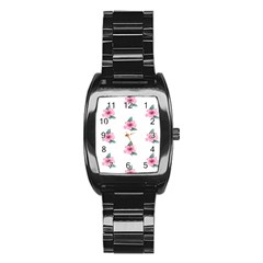 Etro Vintage Former Wallpaper Stainless Steel Barrel Watch