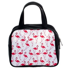 Flamingo pattern Classic Handbags (2 Sides)