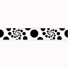 Dot Dots Round Black And White Small Bar Mats