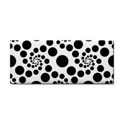 Dot Dots Round Black And White Cosmetic Storage Cases