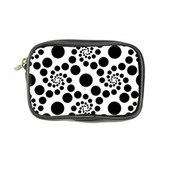 Dot Dots Round Black And White Coin Purse