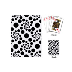 Dot Dots Round Black And White Playing Cards (mini)