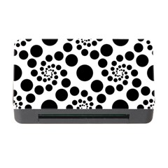 Dot Dots Round Black And White Memory Card Reader with CF
