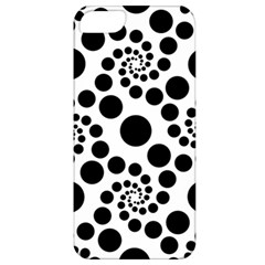 Dot Dots Round Black And White Apple iPhone 5 Classic Hardshell Case