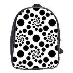 Dot Dots Round Black And White School Bags (xl)