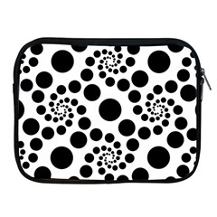 Dot Dots Round Black And White Apple Ipad 2/3/4 Zipper Cases