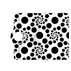 Dot Dots Round Black And White Kindle Fire HDX 8.9  Flip 360 Case