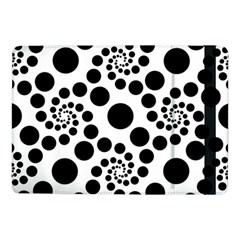 Dot Dots Round Black And White Samsung Galaxy Tab Pro 10 1  Flip Case