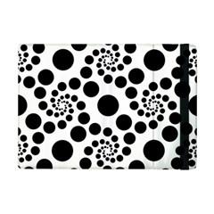 Dot Dots Round Black And White Ipad Mini 2 Flip Cases