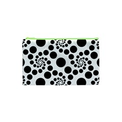 Dot Dots Round Black And White Cosmetic Bag (XS)