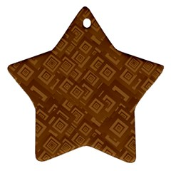 Brown Pattern Rectangle Wallpaper Ornament (star)