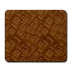 Brown Pattern Rectangle Wallpaper Large Mousepads