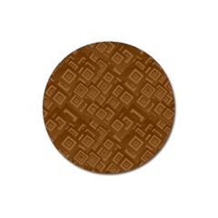 Brown Pattern Rectangle Wallpaper Magnet 3  (Round)