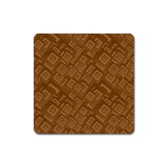 Brown Pattern Rectangle Wallpaper Square Magnet