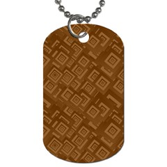 Brown Pattern Rectangle Wallpaper Dog Tag (one Side)