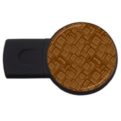 Brown Pattern Rectangle Wallpaper Usb Flash Drive Round (2 Gb)