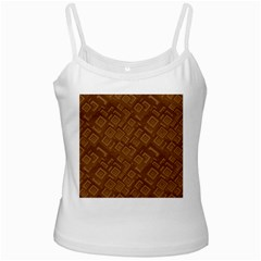 Brown Pattern Rectangle Wallpaper Ladies Camisoles