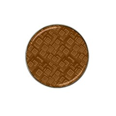 Brown Pattern Rectangle Wallpaper Hat Clip Ball Marker (10 Pack)