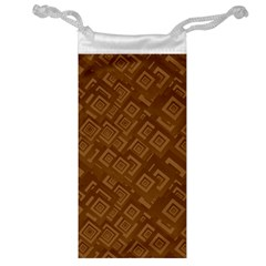 Brown Pattern Rectangle Wallpaper Jewelry Bag