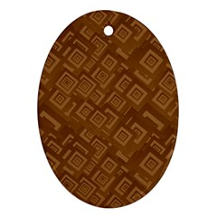 Brown Pattern Rectangle Wallpaper Oval Ornament (two Sides)