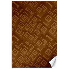 Brown Pattern Rectangle Wallpaper Canvas 12  X 18