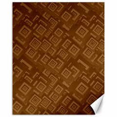 Brown Pattern Rectangle Wallpaper Canvas 16  X 20