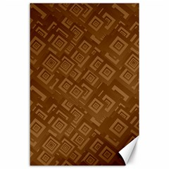 Brown Pattern Rectangle Wallpaper Canvas 24  X 36