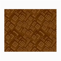 Brown Pattern Rectangle Wallpaper Small Glasses Cloth (2 Side)