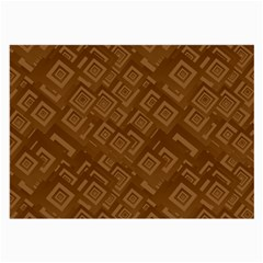Brown Pattern Rectangle Wallpaper Large Glasses Cloth (2 Side)