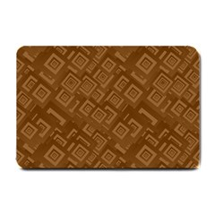 Brown Pattern Rectangle Wallpaper Small Doormat