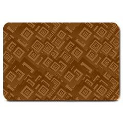 Brown Pattern Rectangle Wallpaper Large Doormat