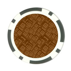 Brown Pattern Rectangle Wallpaper Poker Chip Card Guard