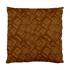 Brown Pattern Rectangle Wallpaper Standard Cushion Case (two Sides)