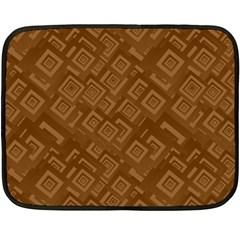 Brown Pattern Rectangle Wallpaper Double Sided Fleece Blanket (mini)