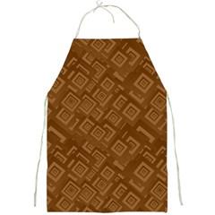 Brown Pattern Rectangle Wallpaper Full Print Aprons