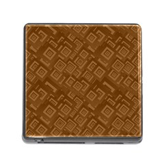 Brown Pattern Rectangle Wallpaper Memory Card Reader (square)