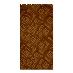 Brown Pattern Rectangle Wallpaper Shower Curtain 36  X 72  (stall)