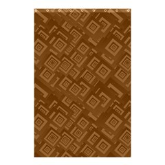 Brown Pattern Rectangle Wallpaper Shower Curtain 48  X 72  (small)