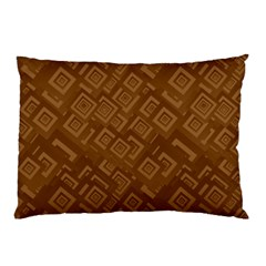 Brown Pattern Rectangle Wallpaper Pillow Case (two Sides)