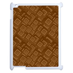 Brown Pattern Rectangle Wallpaper Apple iPad 2 Case (White)